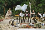 32. Shamanic Fire-Altar On The Pacific Coast, Ecuador, 1997